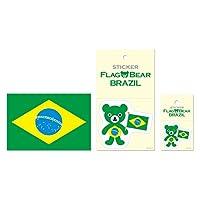 ムーングラフィックス ステッカー ポストカード 国旗 ブラジル SET53