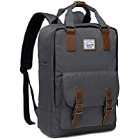 Backpack for Teen Girls,VASCHY Vintage Laptop Backpack Water-Resistant School Backpack Dark Grey