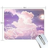 Anmumi マウスパッド 滑り止め 雲 空 19×25cm ゲームに適用 かわいい オシャレ レディース メンズ 子供 ゴム 実用性 パソコン対応