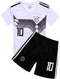 サッカー2018 ドイツ代表チーム ユニフォーム 上下セット オジル 背番号10 OZIL 子供用 (子供XL,オジル) (XL)