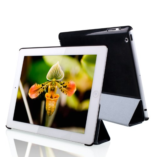 JETech iPad 2/3/4 ケース アイパッド スマートケース カバー ブラック-0210