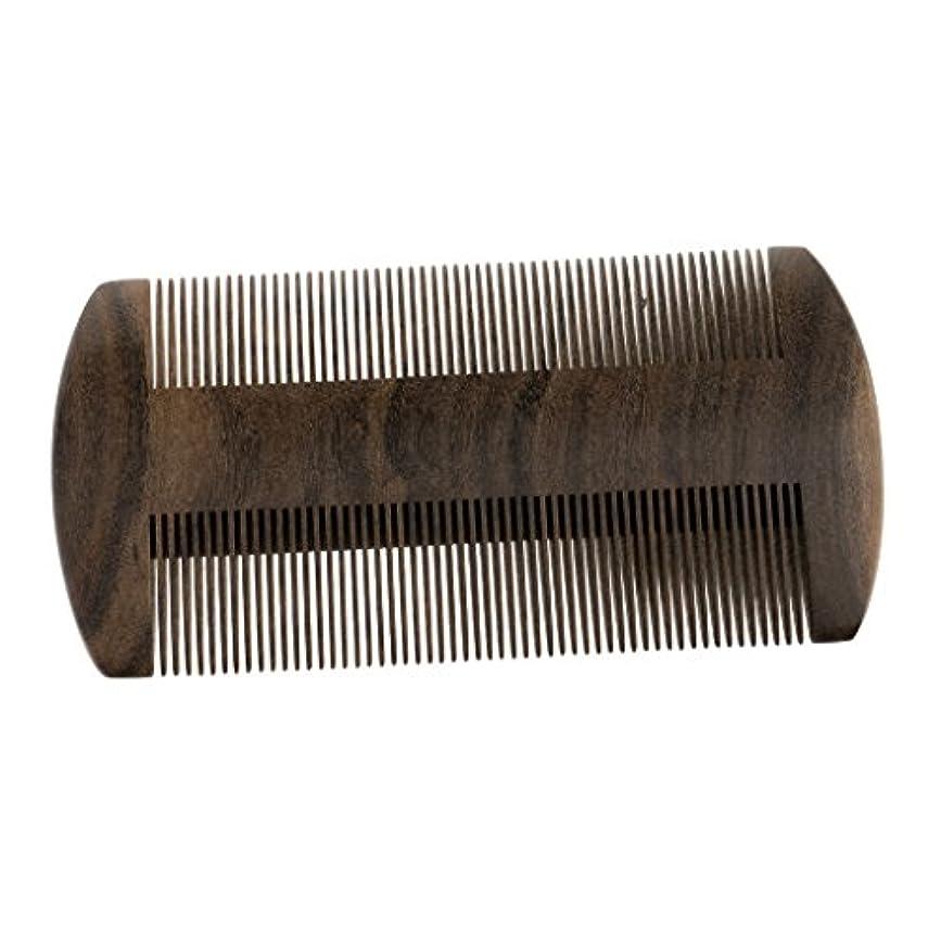 フェード厚い熱帯のヘアダイコーム ウッドコーム ヘアブラシ 静電気防止 髭剃り櫛 ブラシ ポケットコーム