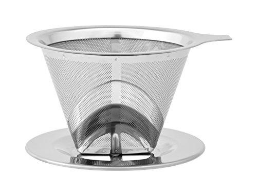 ストリックスデザイン ペーパーフィルターのいらないステンレスコーヒードリッパー ブラシ不要 101 2層メッシュ構造 1~2杯用 SD-900