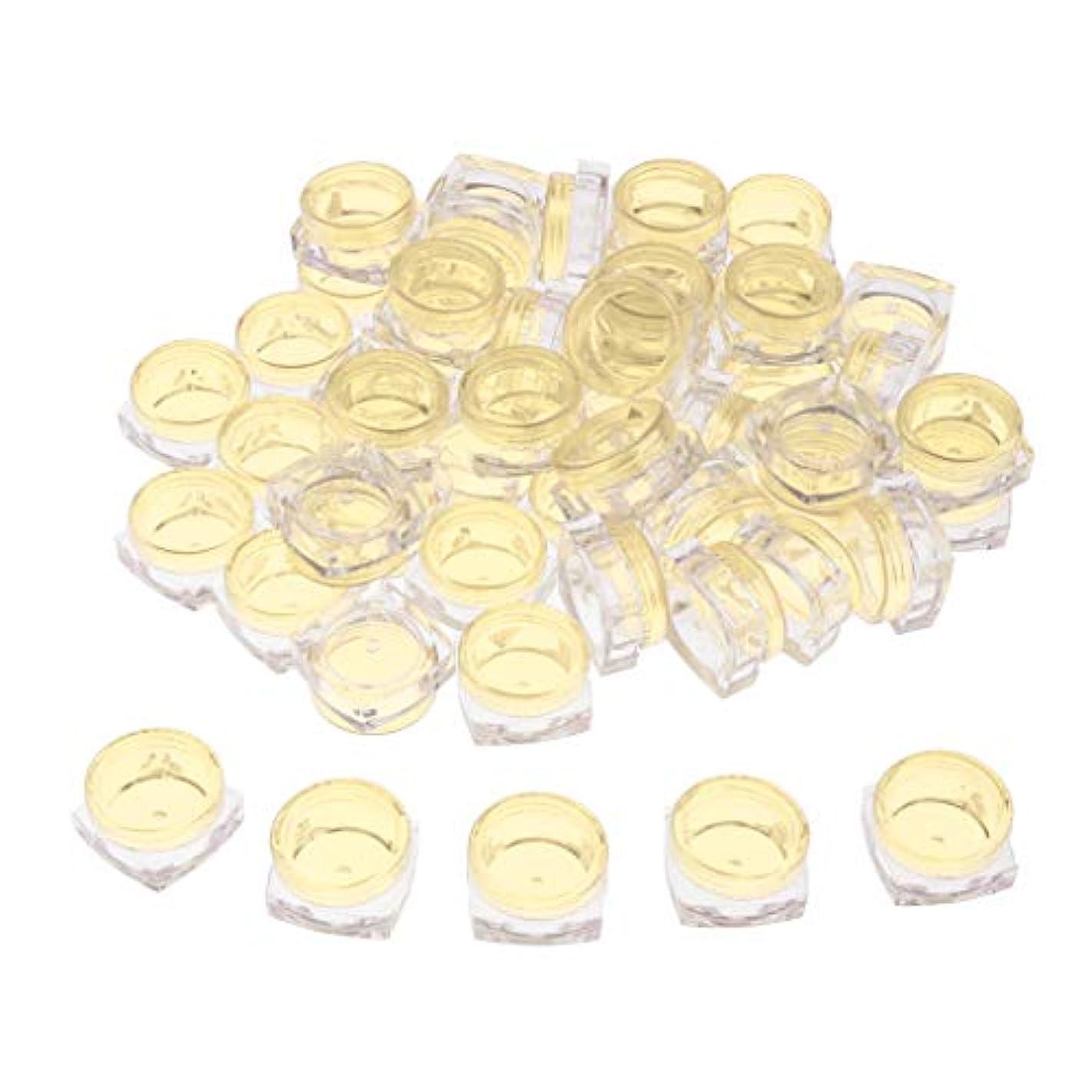 ハウジングわざわざ予約クリア 小分けケース 化粧品収納容器 詰め替え容器 クリームケース 5g 50個セット - 黄