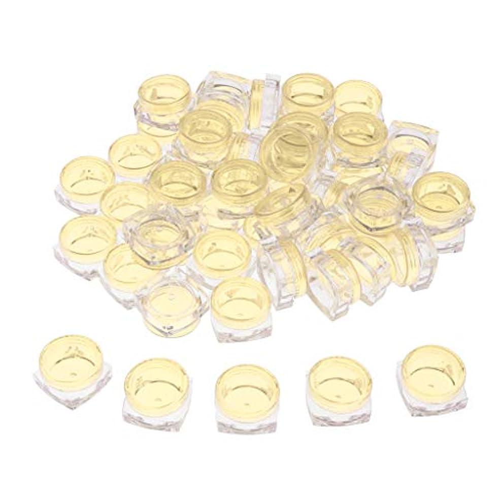器用大臣さわやかクリア 小分けケース 化粧品収納容器 詰め替え容器 クリームケース 5g 50個セット - 黄