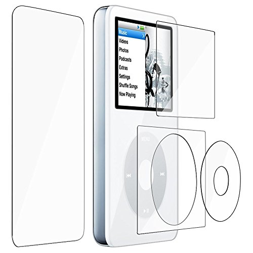 iPod classic フィルム 両面 4枚キット 液晶 画面 背面 保護 Apple アイポッド クラシック 対応 自己吸着式 MY WAY SCREEN SHIELD 指紋防止 コーティング スクリーン シート クリア