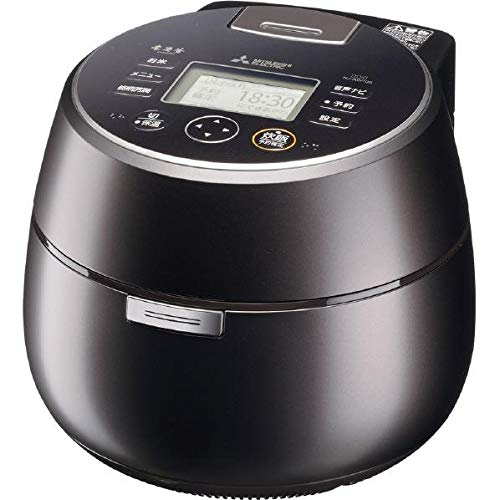 三菱 IHジャー炊飯器(5.5合炊き) 黒銀蒔MITSUBISHI 本炭釜 KAMADO NJ-AW109-B
