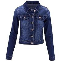 ClothingAve. Womens Stretch Cotton Button Down Classic Denim Jacket w/Pockets