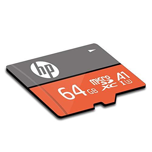 『【Amazon.co.jp 限定】HP microSDXCカード 64GB オレンジ A1 UHS-I(U3) 4K Ultra HD対応 最大読出速度100MB/s 1年間保証』の1枚目の画像