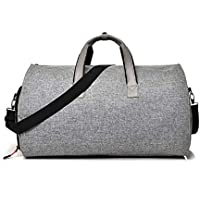 KAIMENG 2 in 1 Hanging Suitcase Suit Travel Bags Convertible Garment Bag with Shoulder Strap Carry on Garment Duffel Bag for Men Women