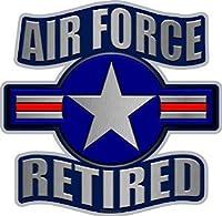 """ProSticker 1063( 1つ) 5"""" American Prideシリーズ"""" US Air Force Retired """"サービスメタルフラグデカールステッカー"""