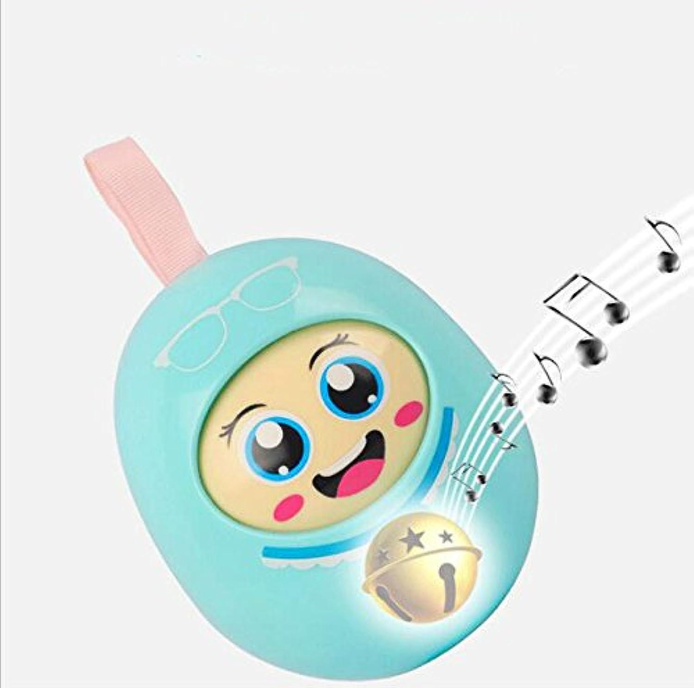 wanrane Cute Kids Roly - Poly Toy Baby Safe Teether Pram Rattleベルタンブラー知的教育玩具(ランダムカラー)