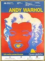 ポスター アンディ ウォーホル Un Mito Americano 額装品 アルミ製ベーシックフレーム(ゴールド)