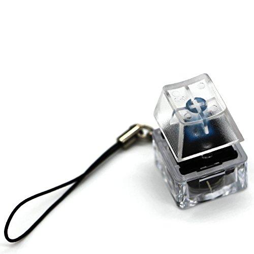 メカニカル キーボードスイッチ テスター 発光 CHERRYMX 青軸 キーホルダーデザイン 携帯便利