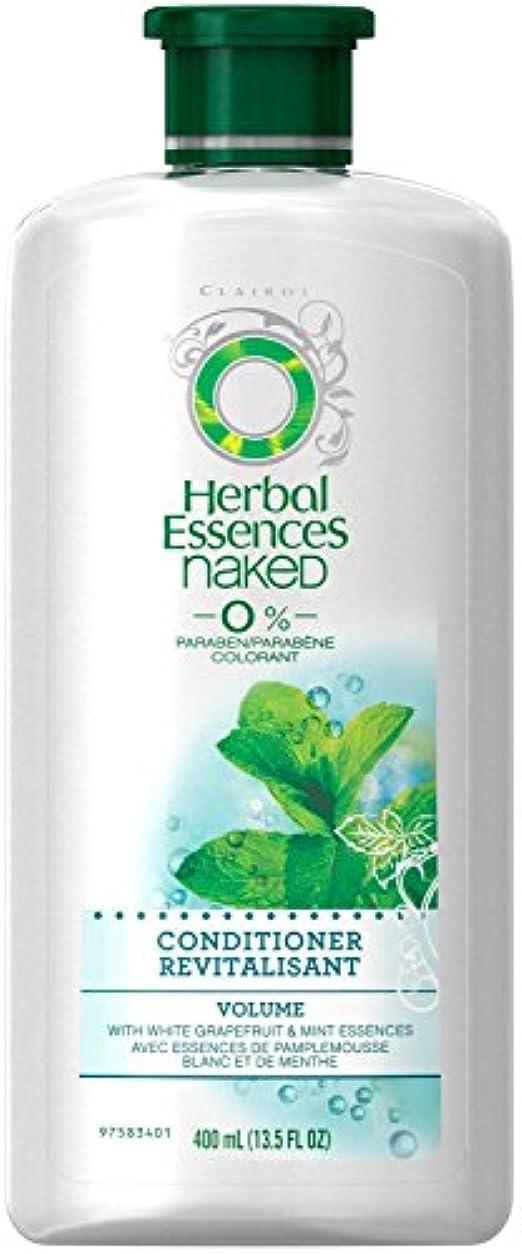 低下スタック虐待Herbal Essences 裸のボリュームコンディショナー - 13.5オズ