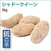 【じゃがいも/シャドークィーン5kg】北海道産低農薬栽培。実が紫色のじゃがいも【送料込】