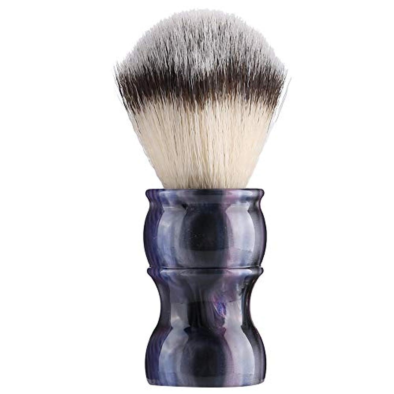 シプリー概して側面専門の手動ひげの剃るブラシ、密集したナイロン毛のきれいな人の口ひげのブラシ家および旅行のための携帯用メンズひげのブラシ(#6)