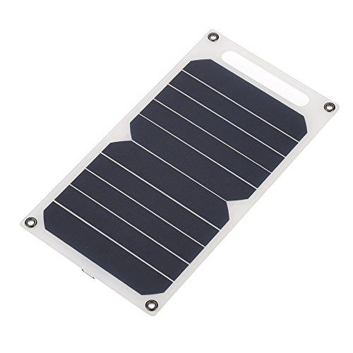 Lixada ソーラー充電器10W ポータブル 超薄 単結晶 シリコン ソーラーパネル 5V USBポート 高効率 キャンプ 乗馬 屋外活動 照明の使用 iPhone 6/6 / Plus iPad Galaxy S6 / S7 / Edge / Nexus 5X / 6Pに適用