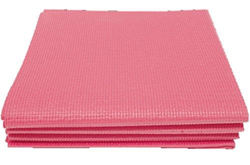 パルマート 折りたたみヨガマット ピンク W61×H173(...