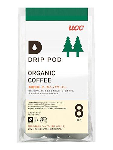 UCC ドリップポッド 有機栽培オーガニック コーヒー 8個