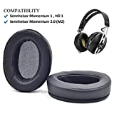 Black Ear Pads Cushion for Sennheiser Momentum 2.0 (M2) Wireless Over Ear Headphones
