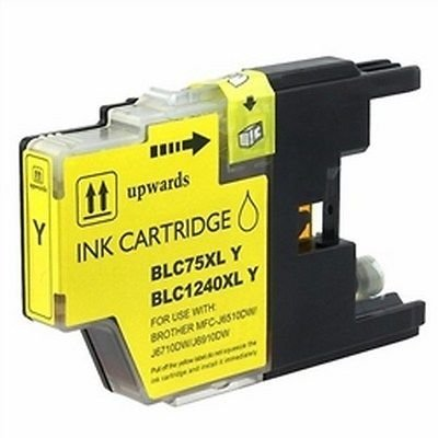 Quality YELLOW Ink Cartridges for BROTHER LC75Y, LC71Y by Supplies Wholesalers
