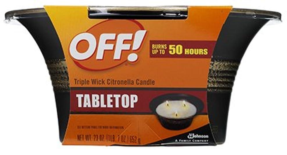 累計言い換えるとによるとS Cジョンソンワックス71170シトロネラtriple-wick Candle、23-oz。 6 ブラック 71170