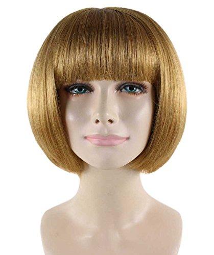 Wigs2you ウィッグ 有名人 ボブ 栗ウィッグ ハロウィン パーティー H-2077 フルウィッグ オリジナル 最高級 かつら 仮装 コスプレ ウィッグ