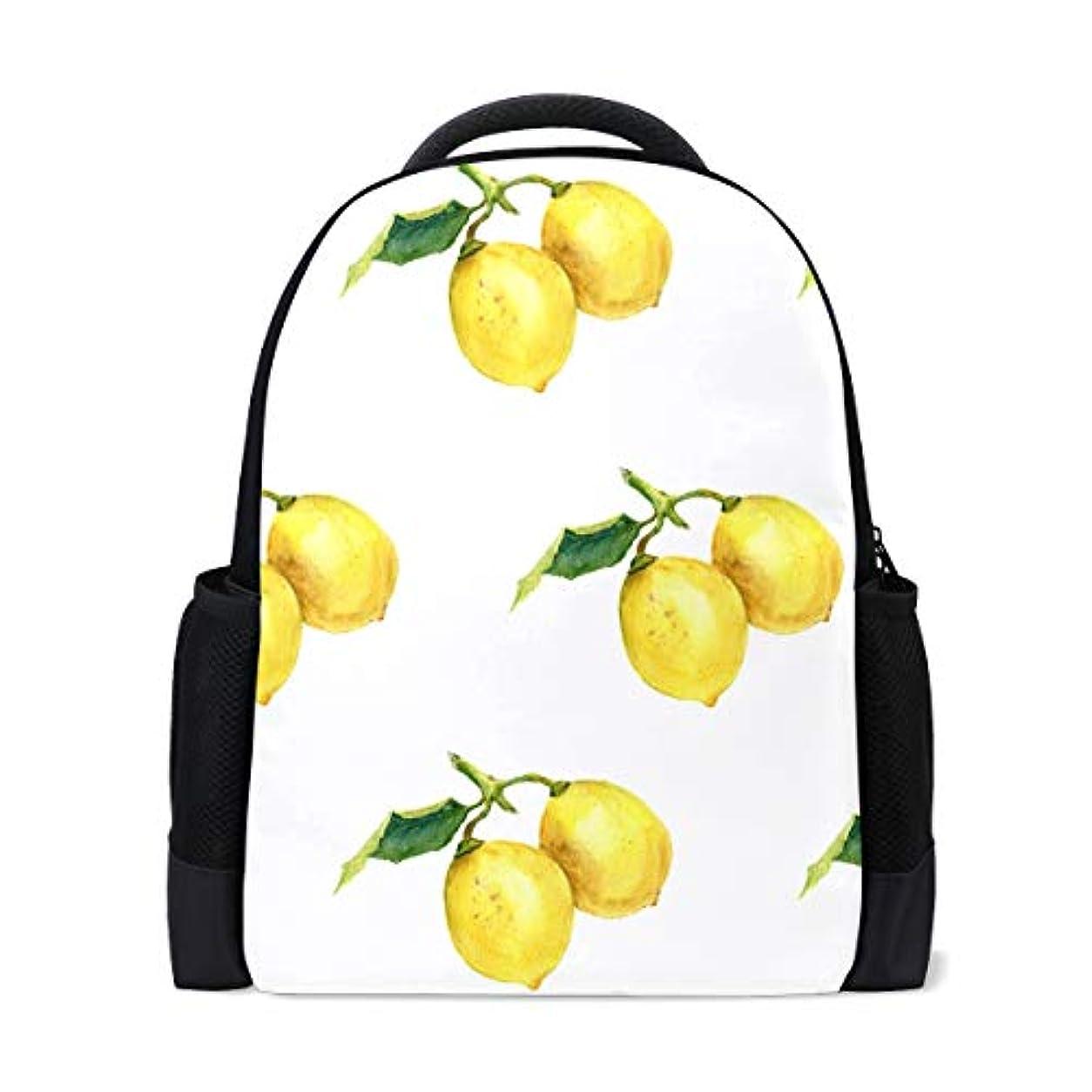 モールニュース奨励しますユキオ(UKIO) リュックサック バックパック PCバック ビジネスリュック おしゃれ 大容量 防水 軽量 レモン柄 黄色 シンプル修学旅行 遠足 登山 アウトドア デイパック 子供 通学