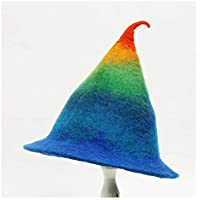 2020 Womens Hats Caps Womens Colorful Berets Woman Winter Warm Christmas Hat Fedora Hat Birthday Gift Hat Funny Fashion Casual Soft Decoration Lighting New Magician Cap (Color : 1, Size : 55-60CM)