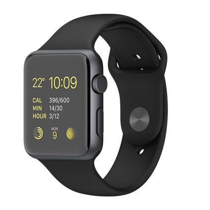 Apple Watch Sport 42mmスペースグレイアルミニウムケース...