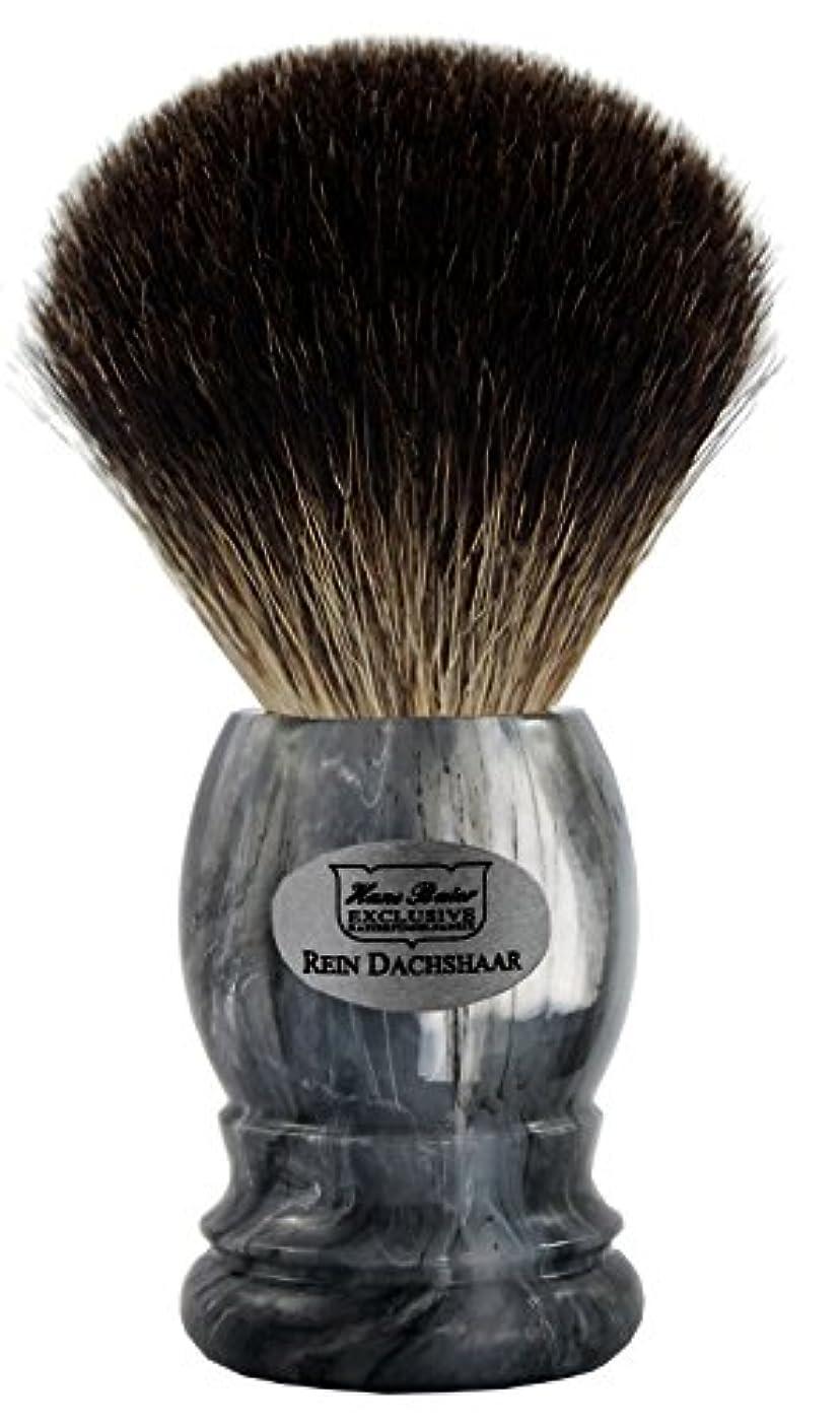 敏感な頭レイアウトShaving brush grey badger, grey handle - Hans Baier Exclusive