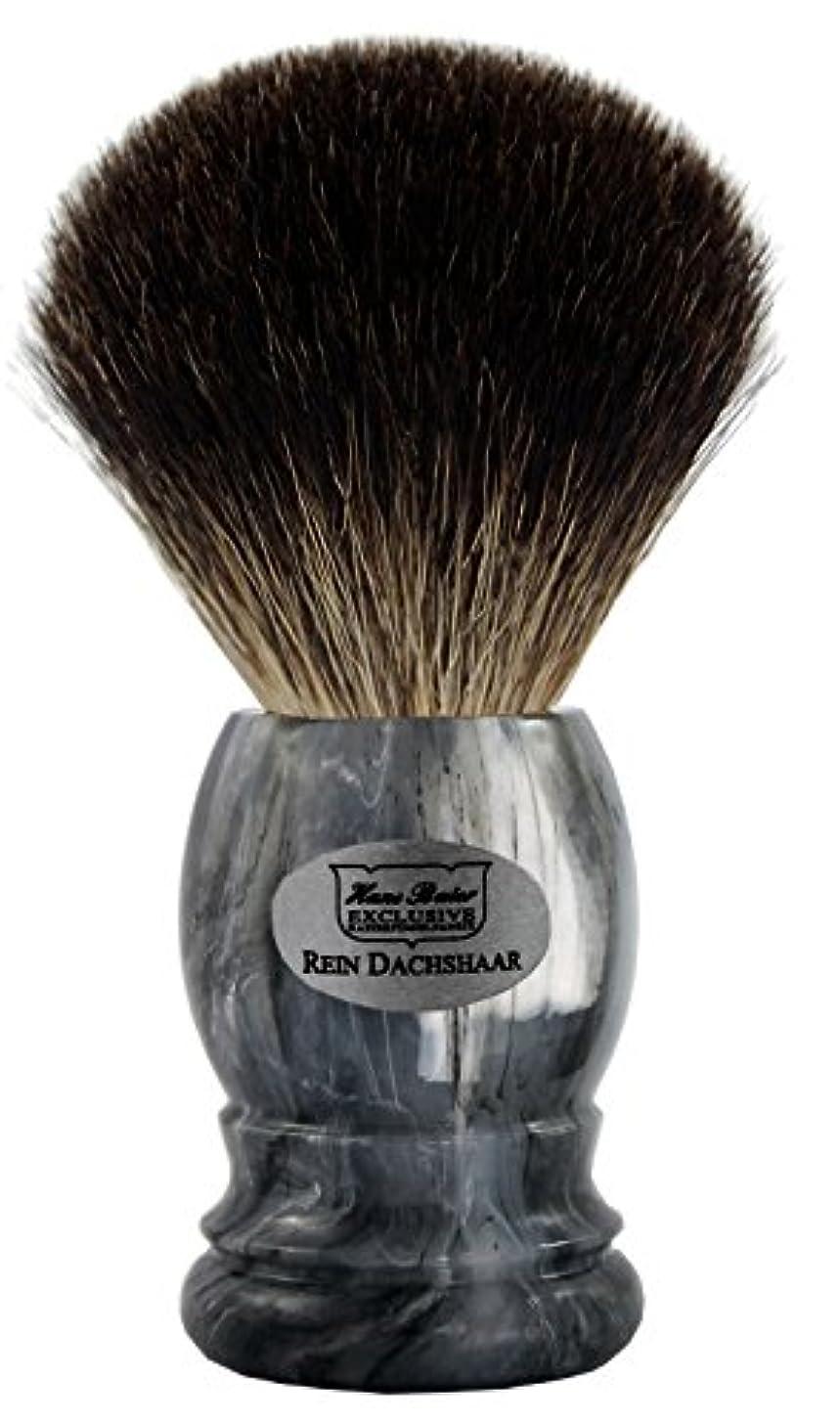 祝う朝の体操をするライセンスShaving brush grey badger, grey handle - Hans Baier Exclusive