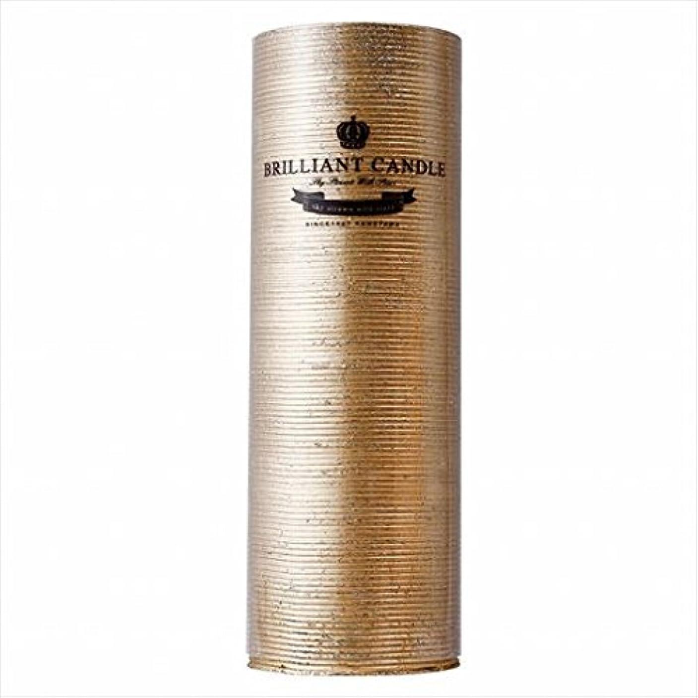 良性手つかずの固体カメヤマキャンドル(kameyama candle) ブリリアントピラー2×6 「 ゴールド 」