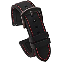Carty Quick Release Watch Straps (20mm or 22mm) - Soft Silicone Rubber Replacement Watch Band