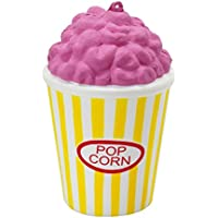 (8.5 x 8.5 x 12.5 cm, Pink and Yellow) - TOYMYTOY Slow Rising Toys Squeeze Stretch Scented Popcorn for Stress Relief