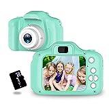 トイカメラ TANOKI キッズカメラ 子供用カメラ 800万画素 95g軽量 2.0インチIPS 4,500枚連続写真 日本語取扱説明書 16GB SDカード附き デジカメ プレゼント グリーン