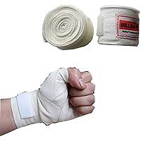 ボクシング バンテージ 2個1セット 伸縮 タイプ 柔軟 通気 肌触り 手首保護 幅5cm 長さ3m (レッド)