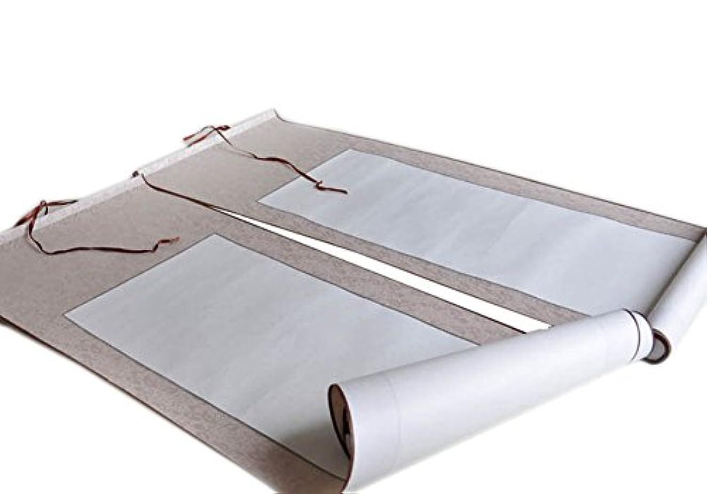 有能な代表終わり1ペアカプレット空白玄紙スクロール書道吊りスクロール、ランダムな色