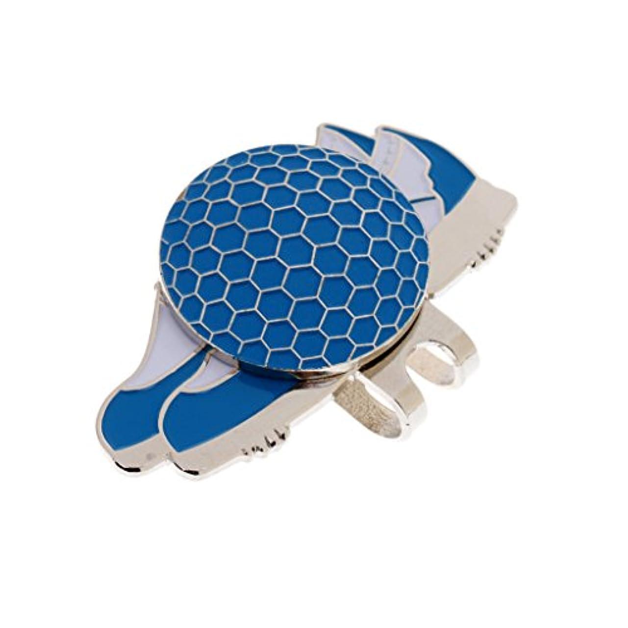 手荷物病な軽量Fenteer 面白い スポーツ 靴 デザイン ハットクリップ 磁気ゴルフボール マーカー 4色選べる