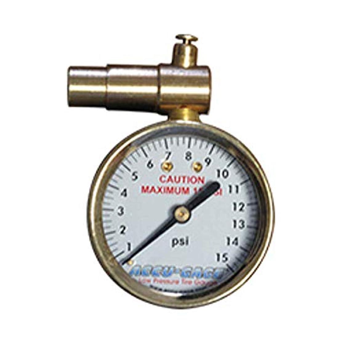男らしさ達成宇宙のMeiser Presta-Valve Dial Gauge with Pressure Relief: 15psi by Meiser