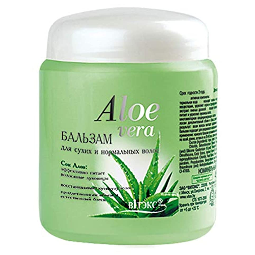 恐れアパート有名人Bielita & Vitex | Aloe Vera Line | Balm for dry and normal hair | Aloe Juice | Cucumber Extract | Vitamins | 450 ml