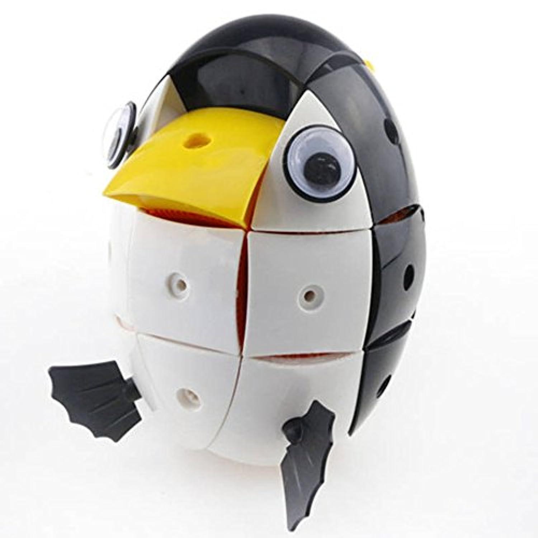 baynne 90個ブラック&ホワイトペンギンブロックモデル磁気Wisdom変形可能Jigsaw