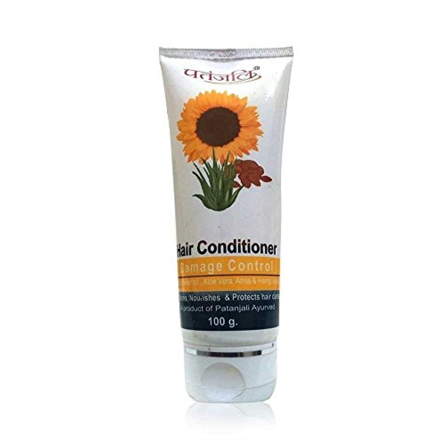 毎月有彩色の銅PATANJALI Hair Conditioner Damage Control 100 Gram by Patanjali