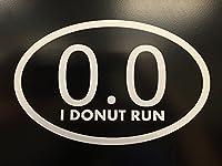 "0.0I Donut実行ホワイトビニールデカール  7"" x 4.75""   Lazyランナーデカール 高品質ビニール"