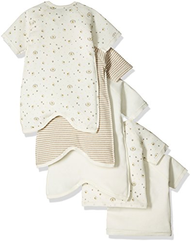 Skip House(スキップハウス) 【オーガニックコットン】新生児肌着5枚組 みつばち柄 50cm - 60cm キナリ 綿100% RNB-16