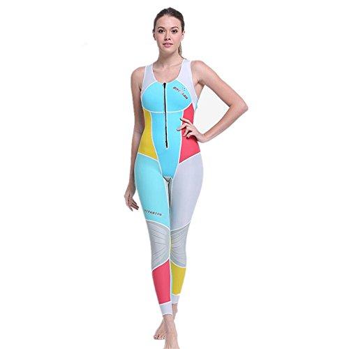 [해외]MORGEN SKY 1.5mm 잠수복 여성 롱 존 짧은 존 프론트 지퍼 얕은웨어/MORGEN SKY 1.5 mm Wetsuit Women`s Long John Short John Front zipper Paddling wear