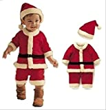 キュート な ミニ サンタ に変身 ♪ キッズ クリスマス 衣装 (15. 男の子・140cm)