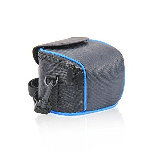 FOSOTO ケースバッグはNikon Coolpix L330 L340 L320 L310 L820 L810 L620 L610 CANON POWERSHOT SX410 IS SX510 HS G1 Nikon 1 J2 J3 S1 V2 Panasonic Lumix DMC LZ20 LZ30などのコンパクトデジタルカメラに対応 ブルー