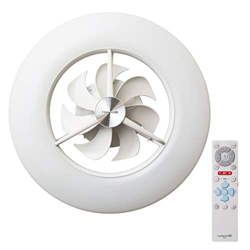 ルミナス LED シーリングサーキュレーター ~12畳 調光調色タイプ 光拡散レンズ搭載 シンプルリモコン付き ACC-12CM